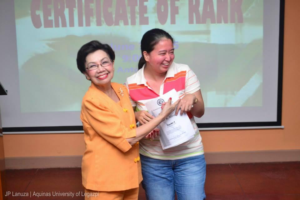 Awarding of Certificate of rank