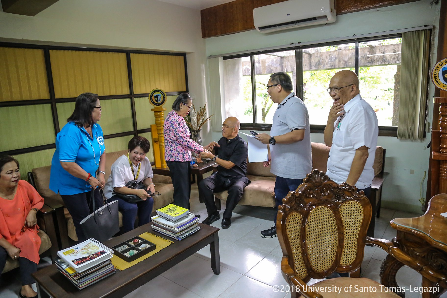 Courtesy Call of Newly Elected General Alumni Assoc. Officers