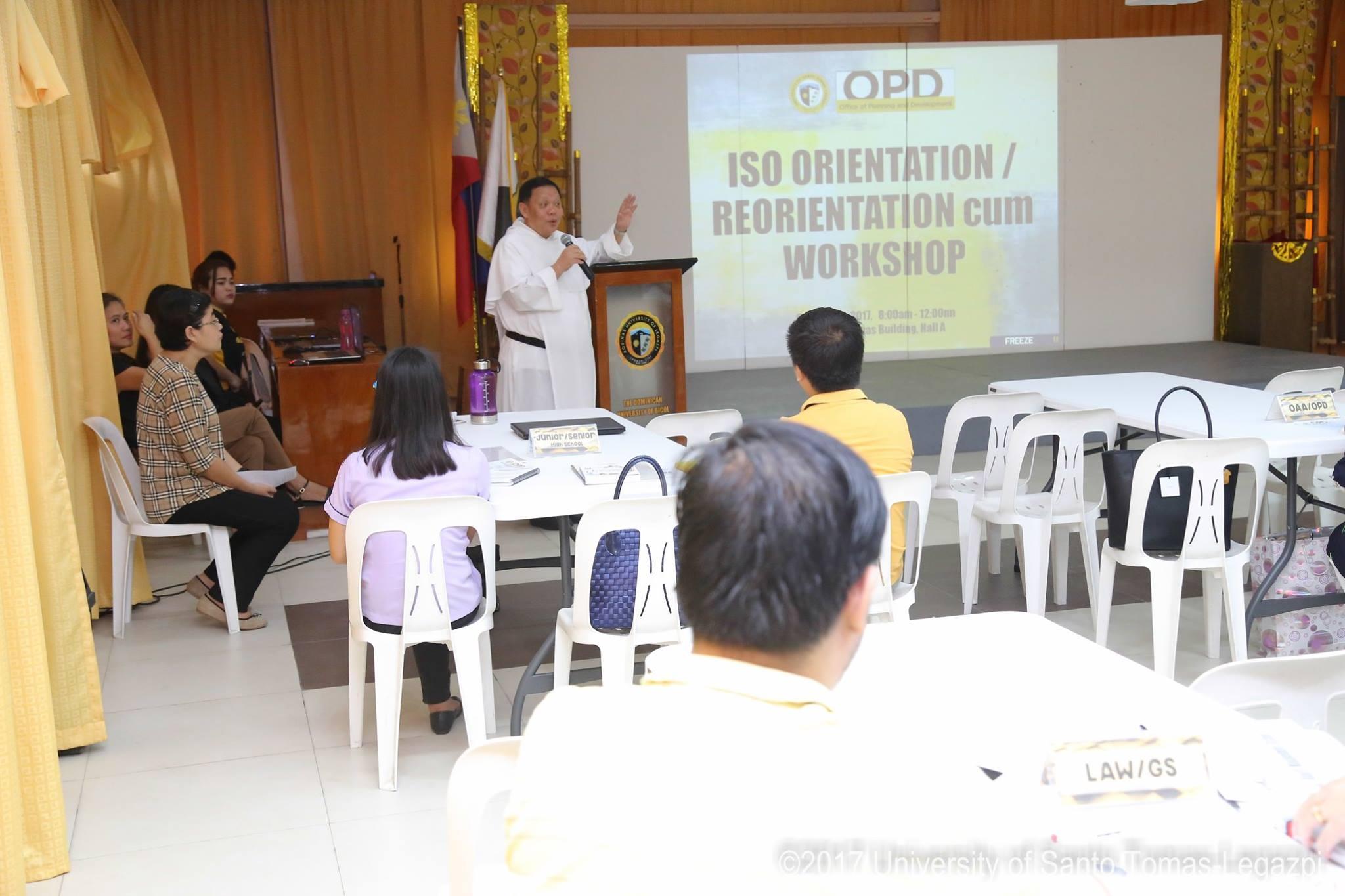 ISO Orientation/Reorientation cum Workshop