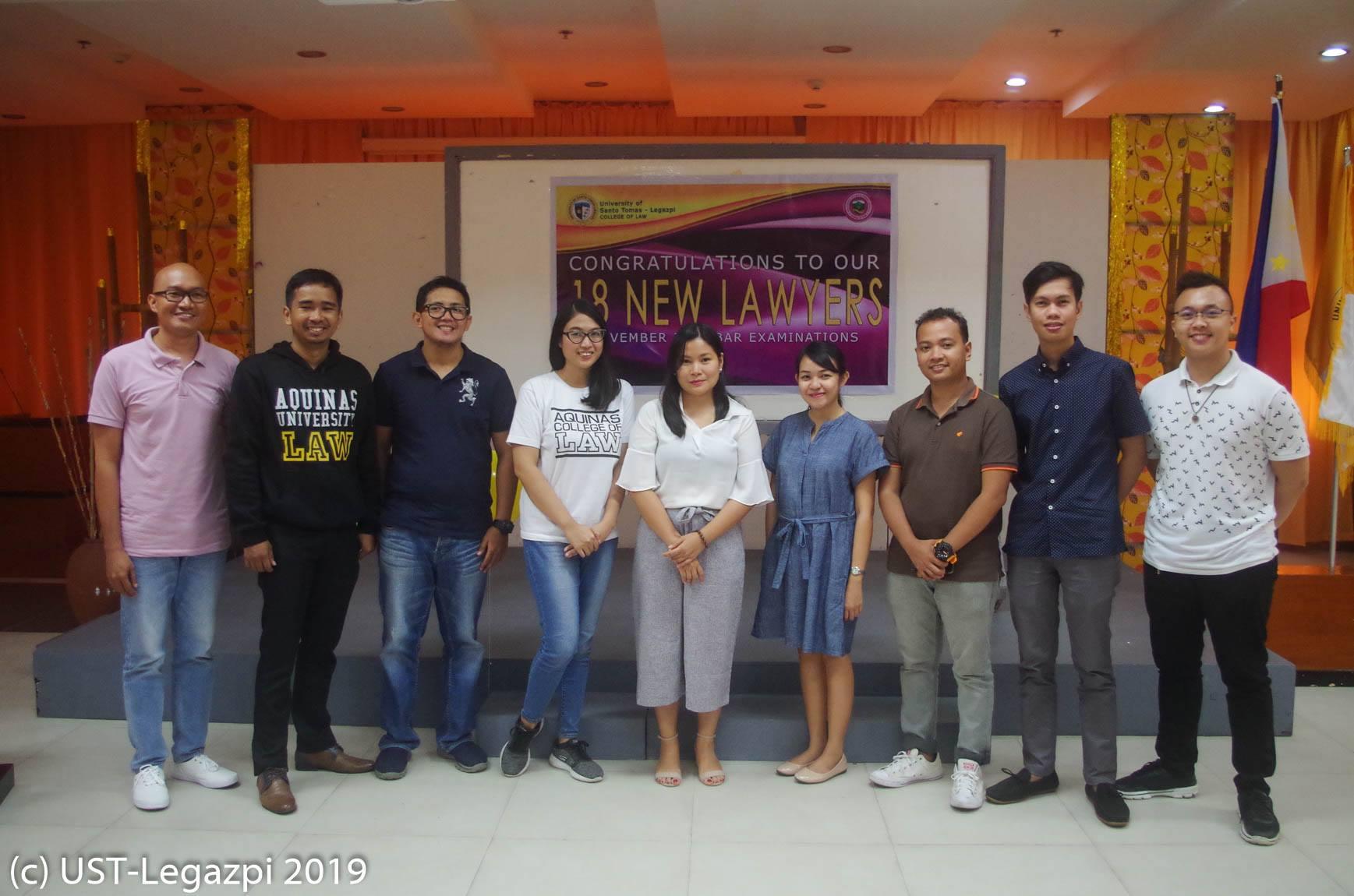 Motorcade and Thanksgiving Mass for new Legazpi Thomasian lawyers