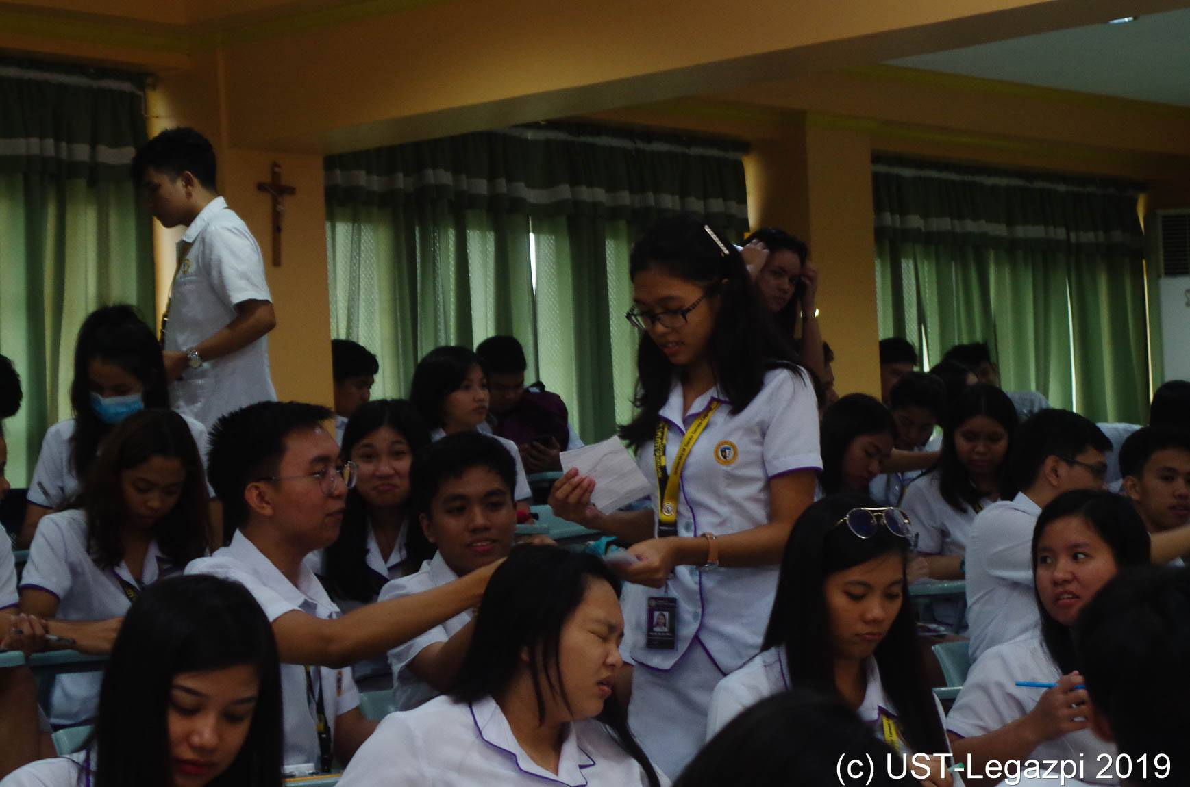 Rector with the NSTP students